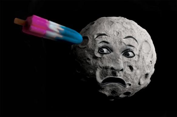 Tableau contemporain original Voyage dans la Lune