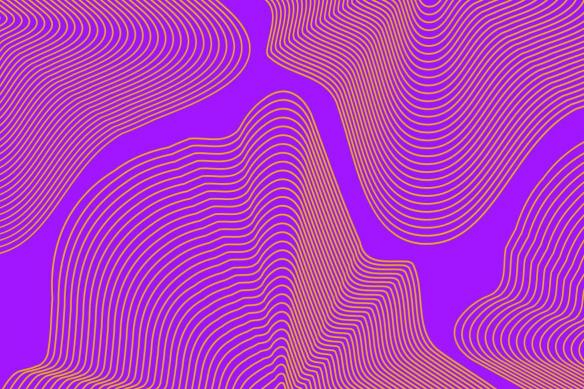 Toile murale Spinoza violet