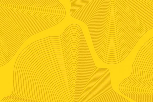 Tableau décoration abstrait Spinoza jaune