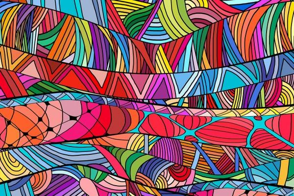 Tableau coloré Ficelion - Izoa