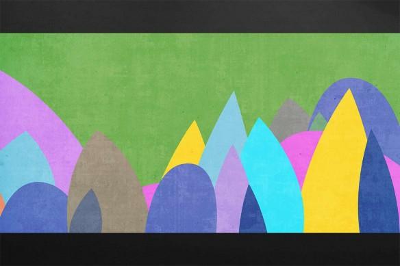 Tableau mural Stobey vert