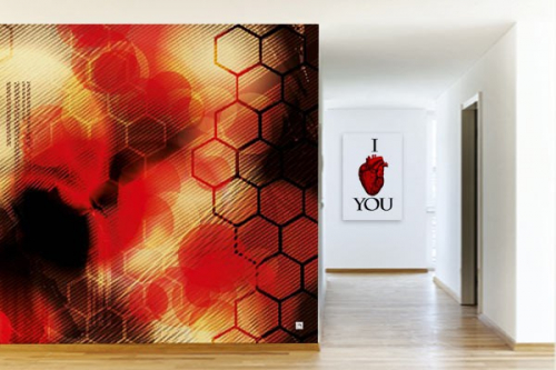 Papier peint design Antidote rouge