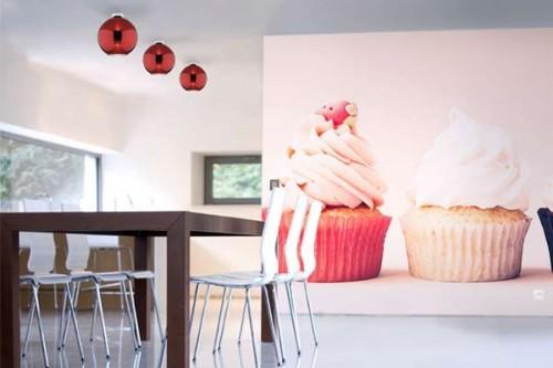 Papier peint pour cuisine vintage Cupcakes