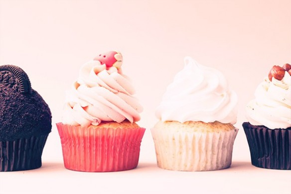 Poster mural pour cuisine vintage Cupcakes