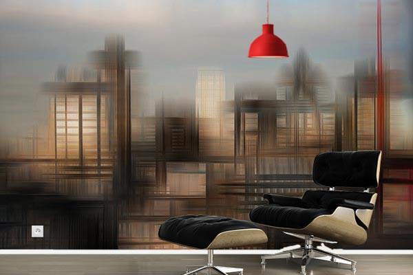 papier peint new york abstrait izoa. Black Bedroom Furniture Sets. Home Design Ideas