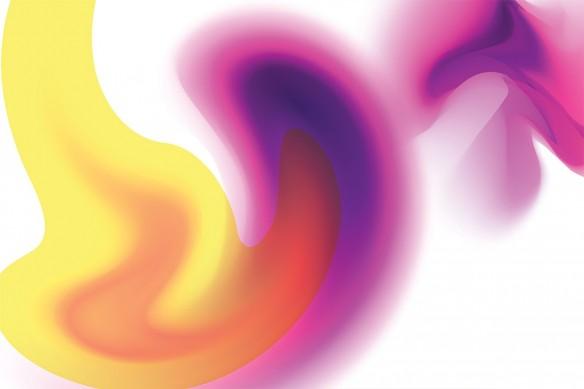 Toile Abstraite colorée Fluide