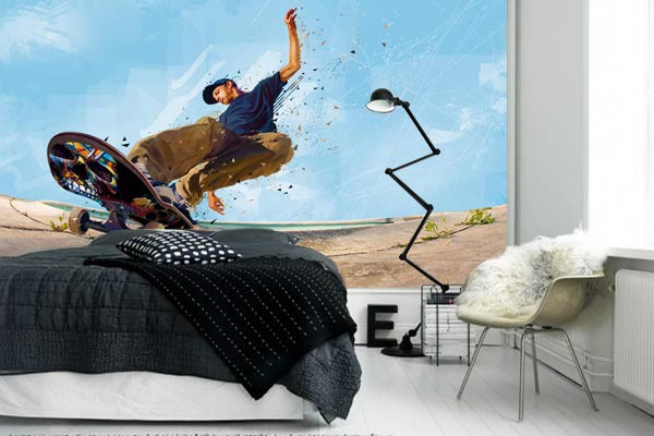 papier peint design chambre ado slide izoa. Black Bedroom Furniture Sets. Home Design Ideas