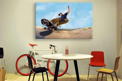 tableau moderne original slide izoa. Black Bedroom Furniture Sets. Home Design Ideas