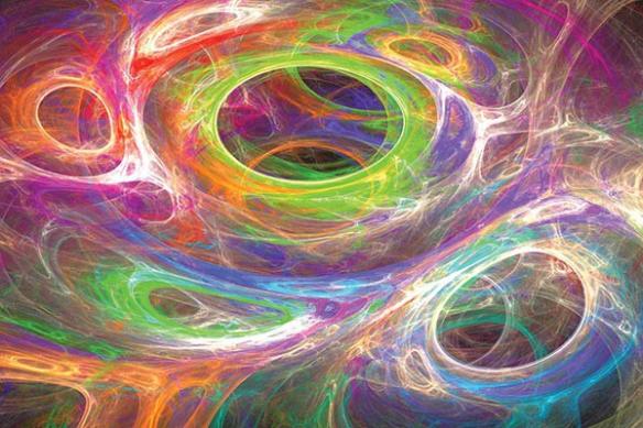 Tableau design abstrait Vertige Coloré