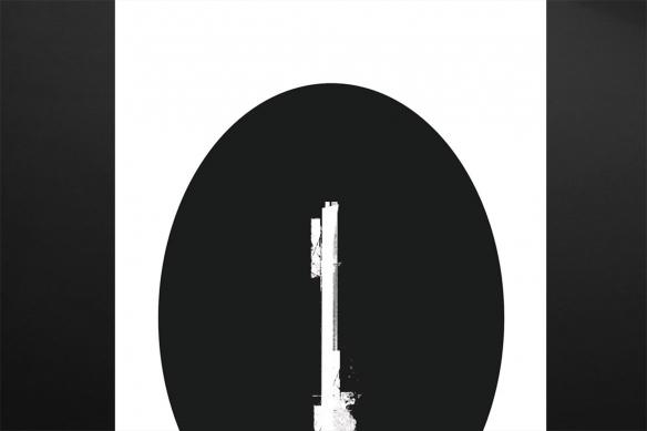 Tableau moderne noir et blanc minimaliste Fiji