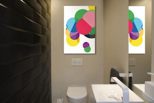 Toile colorée moderne Atome