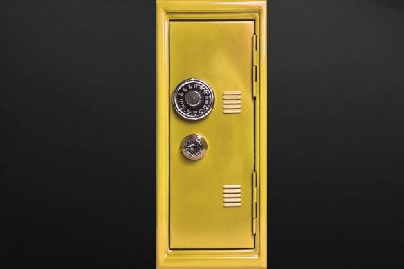 sticker porte Coffre jaune
