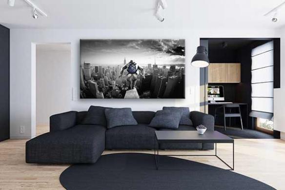 Déco salon design toile moderne Le Grand Saut