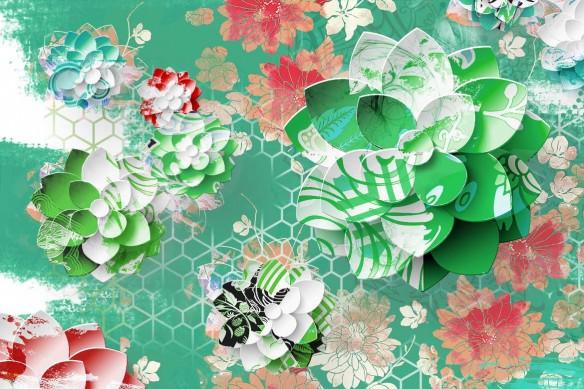 Lotus Graphique vert