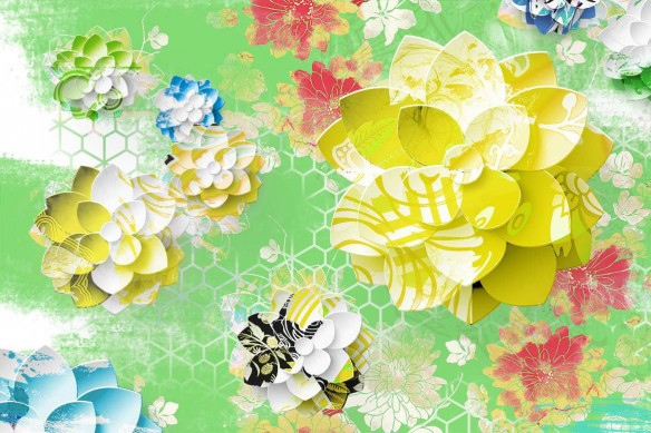 Lotus Graphique jaune