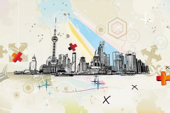 Toile ville Shangaï