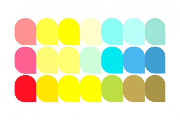Tableau coloré coupoles