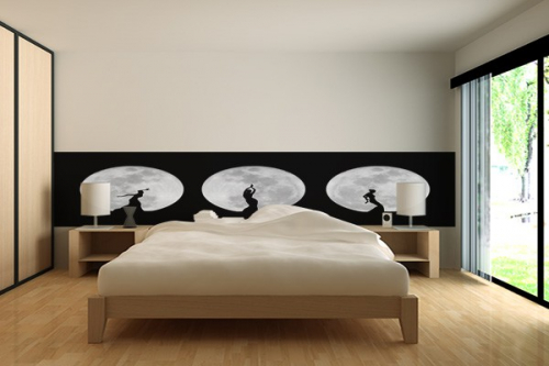 frise murale danse pour la lune izoa. Black Bedroom Furniture Sets. Home Design Ideas