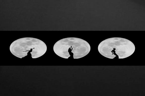 Frise murale originale Danse pour la Lune