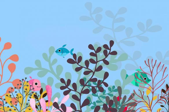 déco murale enfant Comme un poisson dans l'eau