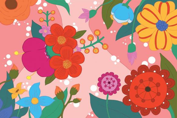 déco scandinave Féérie Florale rose