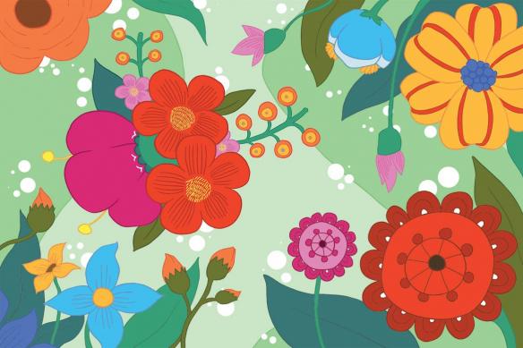 déco scandinave Féérie Florale vert