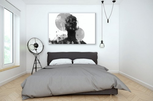 Tableau moderne chambre design Black and white