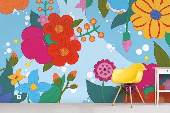 Papier peint Chambre Féérie Scandinave