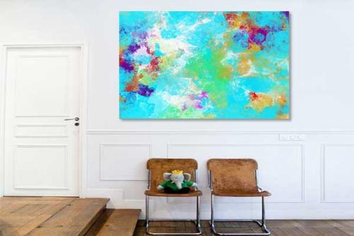 Tableau abstrait color exodus izoa - Tableau colore design ...