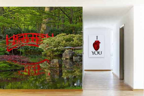 Tapisserie murale Jardin Japonais