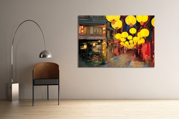 Tableau contemporain shopping en chine izoa - Tableau ethnique contemporain ...