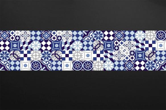 papier peint géométrique Azulejos