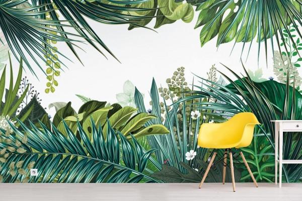 Papier Peint Trompe L œil Jungle Tropicale