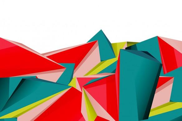 Tableau abstrait coloré Sentak