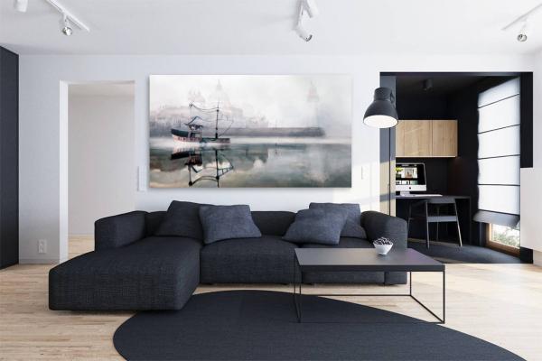 tableau original bateau phare izoa. Black Bedroom Furniture Sets. Home Design Ideas