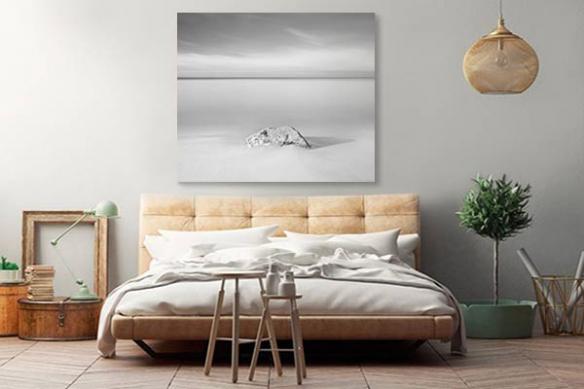 Tableau zen noir et blanc paisible