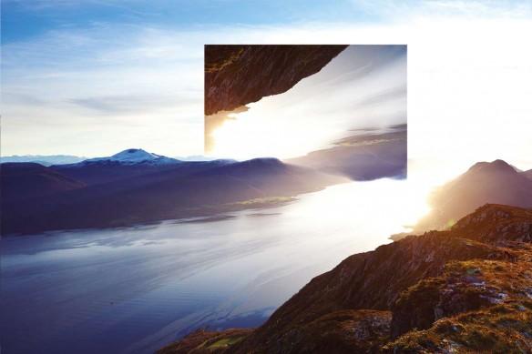 Tableau contemporain paysage Renversant