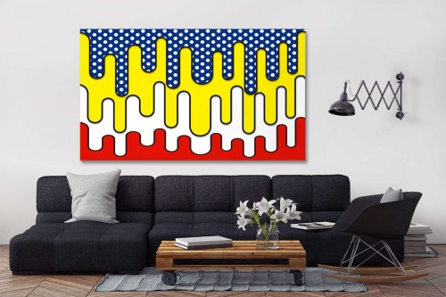tableau pop art abstrait izoa. Black Bedroom Furniture Sets. Home Design Ideas