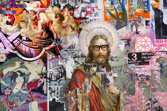 Poster mural original Jesus Tags graphiques