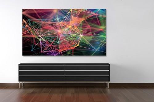 Tableau abstrait contemporain Connexion colorée