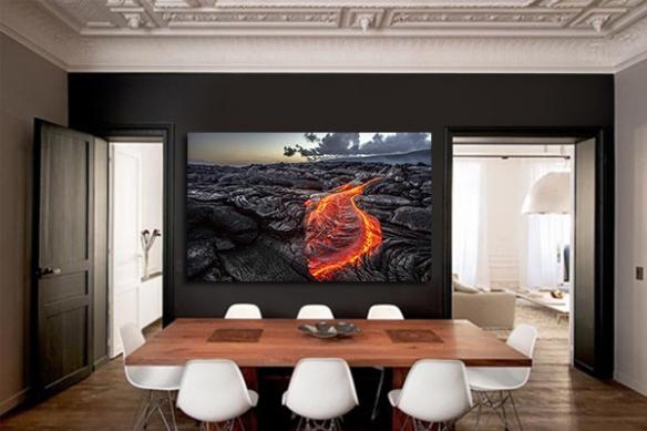 Tableau contemporain design Magma