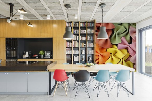 Papier peint cuisine moderne Farfalles