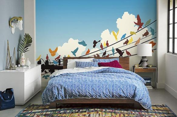 Papier peint chambre adulte coloré Migration