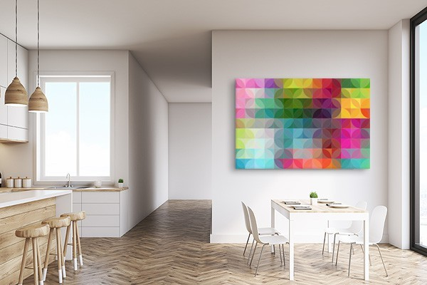 tableau abstrait color saperlipopette izoa. Black Bedroom Furniture Sets. Home Design Ideas