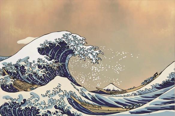 Toile déco la vague Déferlante