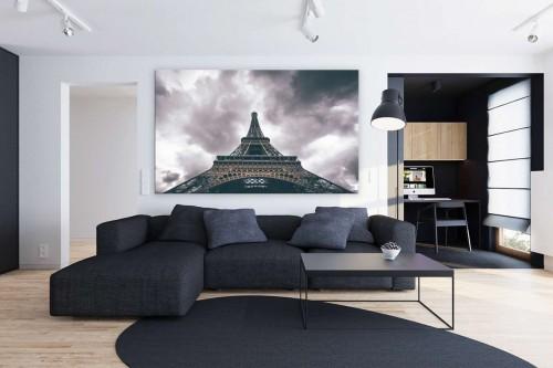 Tableau décoration Tour Eiffel vue d'en bas