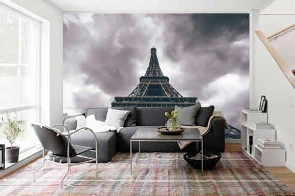 Poster mural xxl Tour Eiffel vue d'en bas