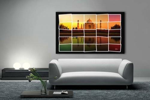 Tableau contemporain Taj Mahal by Mathieu Gazaix