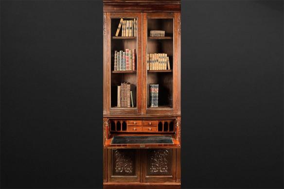 trompe l'œil pour porte Bureau Bibliothèque