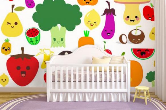 Papier peint chambre enfant Tutti Frutti
